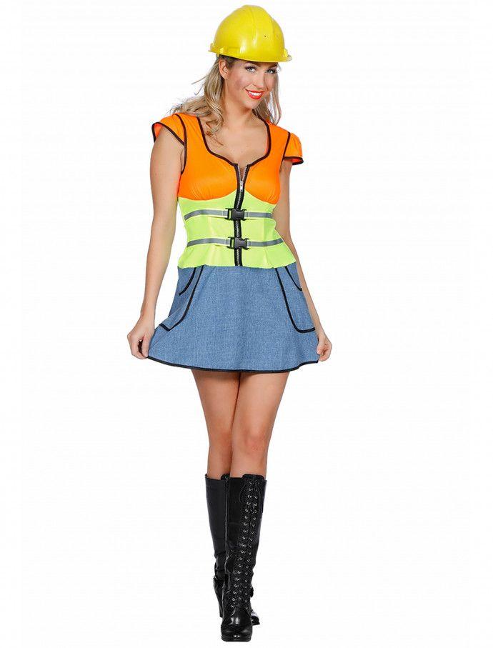 Kleid Bauarbeiterin Fur Karneval Fasching Deiters Bauarbeiterin