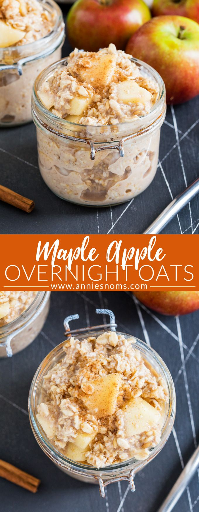 These Maple Apple Overnight Oats are the perfect make ahead breakfast; with two ways to make them, you're bound to fall in love with these creamy oats!