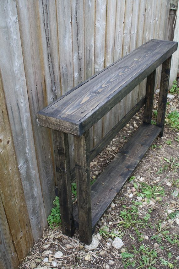 Sofa Table Rustic Narrow Entryway Long Skinny Hall Console