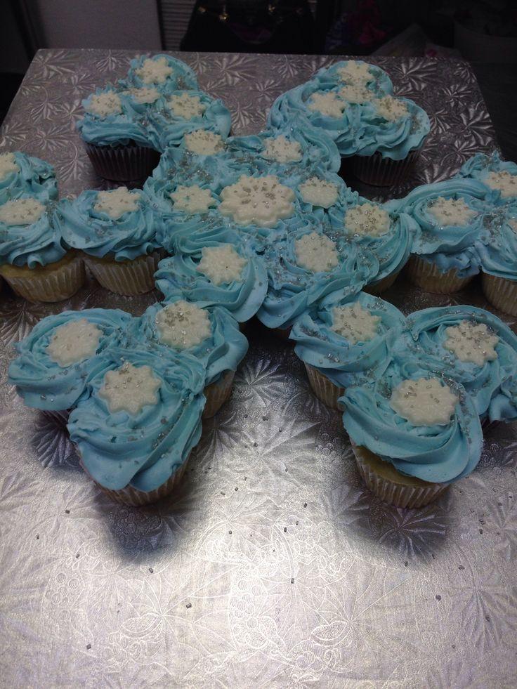 jpg cupcakes cake frozen parties birthday parties snowflakes cupcakes    Frozen Cupcake Cake