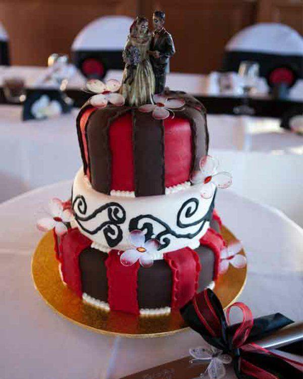 Kuchen Deko Halloween  hochzeit torte