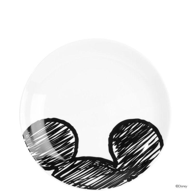 DISNEY Teller Mickey Skizze (Ø ca. 20 cm)