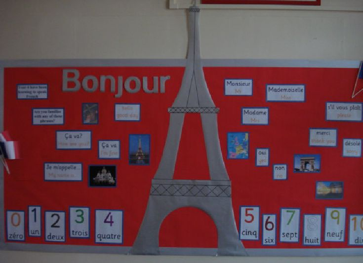 Eiffel Tower Greeting - French classroom display photo - Photo gallery - SparkleBox