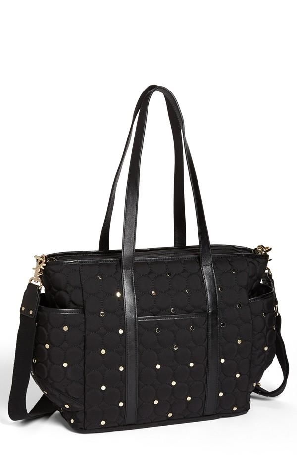 Rebecca Minkoff Black, Quilted Baby Diaper Bag