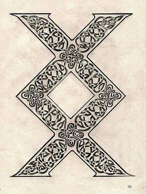 """vikingo símbolo llamado INGUZ , significa """"donde hay una voluntad , hay un camino """""""
