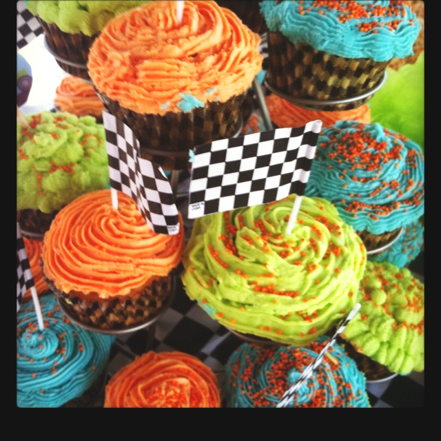 Monster Truck Party Cupcakes