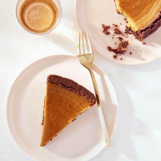 Crosta de chocolate receita de torta de abóbora