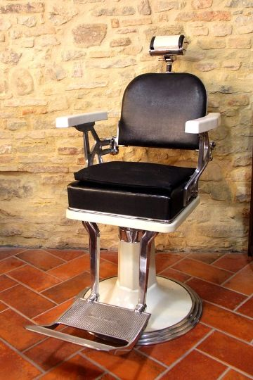 barber chair vintage - sedia da barbiere vintage