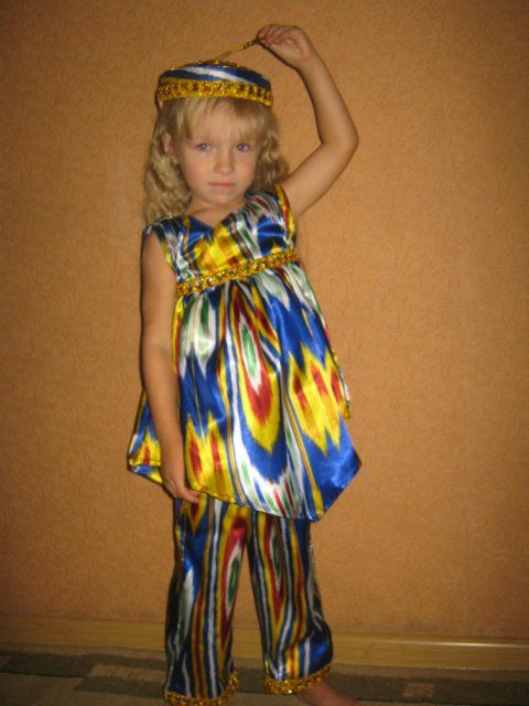 Детские народные костюмы из подручных материалов