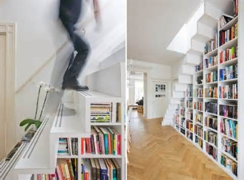 Bookshelves Under Stairs 27 best open tread stairs images on pinterest | stairs