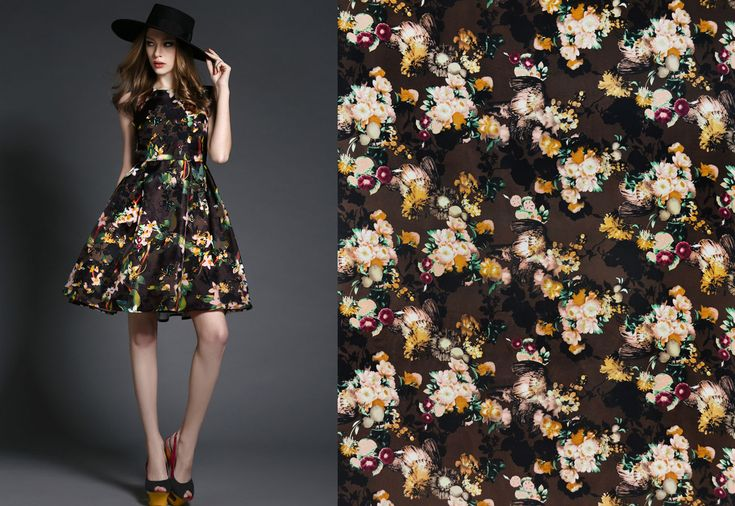 This colorful printed satin silk is available now here: https://www.malagoli.ro/en/product/mr-199 Get inspired by this look and create you own with #MalagoliFabrics satin silk. #SatinSilk #Silk #Fabrics #FloralPrints #Prints