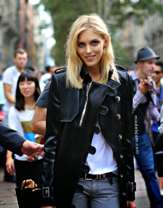 Anja Rubik after Gucci, Milano, September 2014