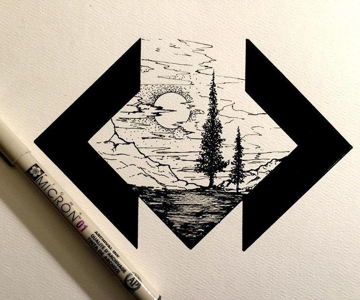 """#drawing #dailydrawings #illustration #ink #inkdrawing #landscape #geometry #artofdrawingg #iblackwork #art_spotlight #artshelp #art #artoftheday…"""