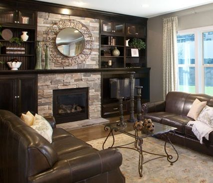 Country ledgestone echo ridge cultured stone by boral - Does a living room need a fireplace ...