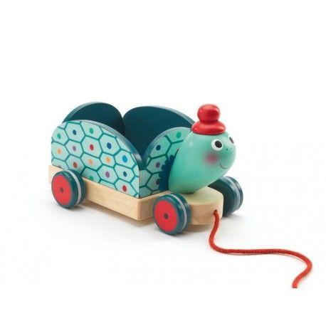 Wózek żółw do ciągnięcia Clementine Djeco 18+ - Enfant