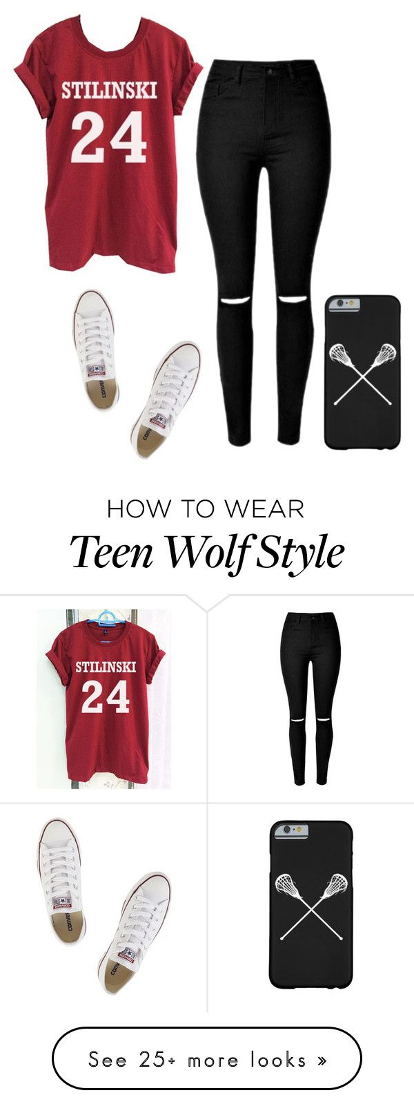 """Stiles Stilinski #40"" by tropicaldoze on Polyvore featuring Converse"