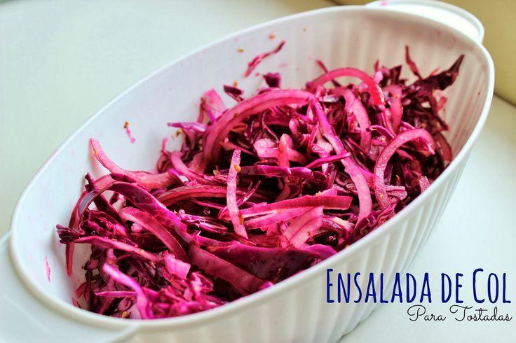 Una Mexicana en USA: Ensalada de Col y Tostadas sin Carne.
