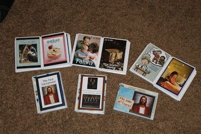 Tons of quiet book ideas (in 4x6 photo albums from the dollar store)