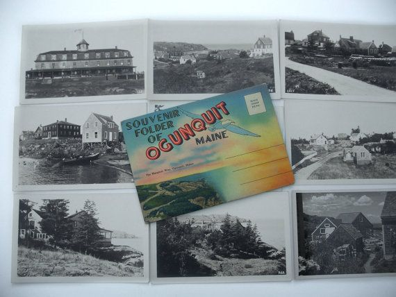 Postcard Collection Ogunquit Maine Black & by MargsMostlyVintage