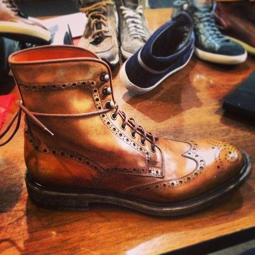 F/W 15 Santoni Leather Boot  #santoni #fashion #shoes #menswear #footwear