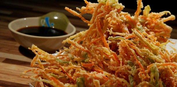 receita Tempura de legumes