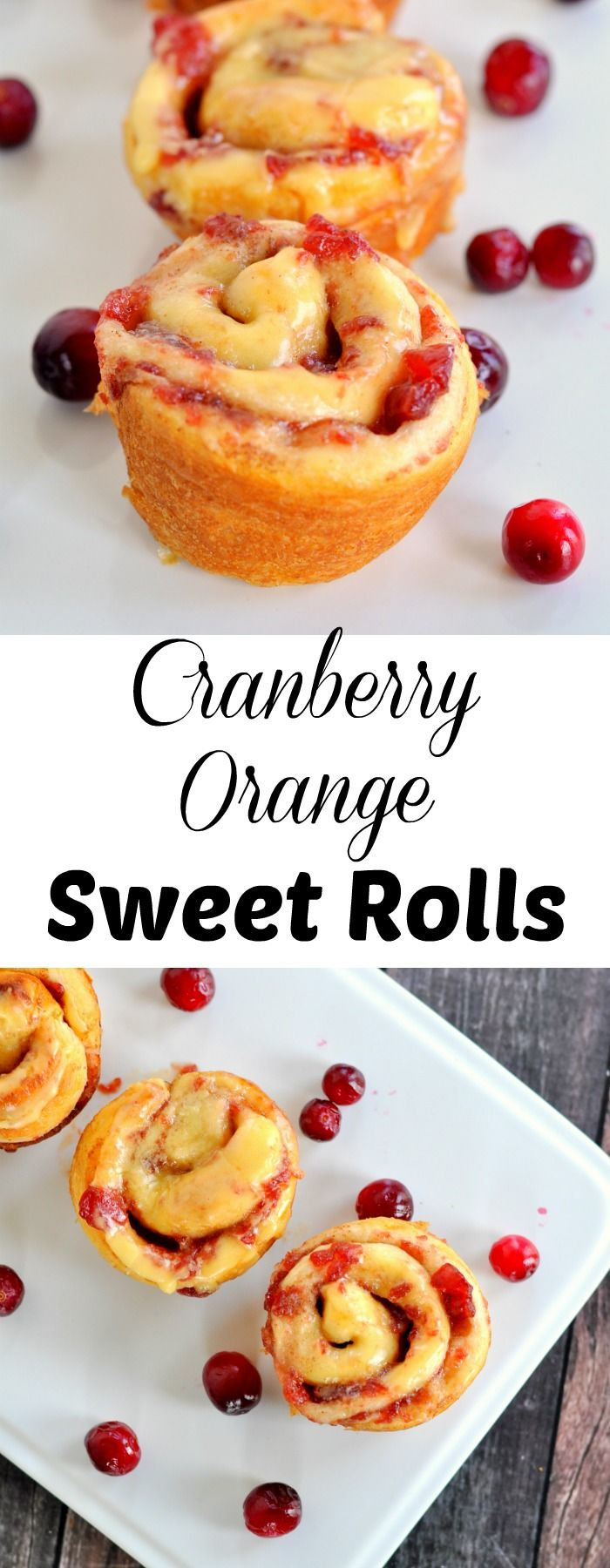 Cranberry orange sweet rolls are the perfect breakfast treat. #warmesttraditions [AD]
