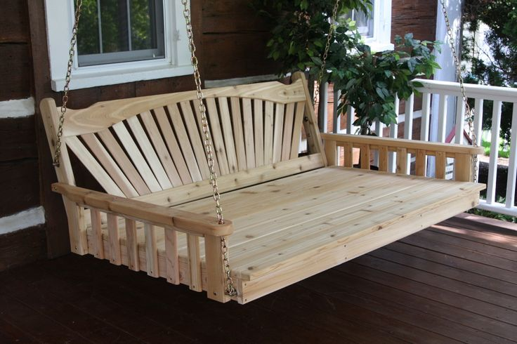 5 Fanback Porch Swing Bed Choose Unfinished Painted
