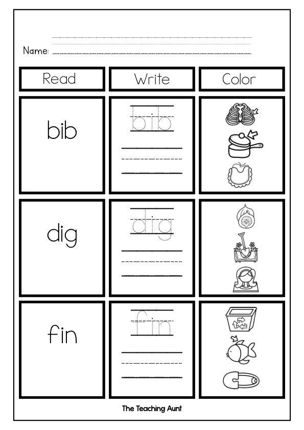 Pin On Free Printable For Preschool Free printable cvc worksheets
