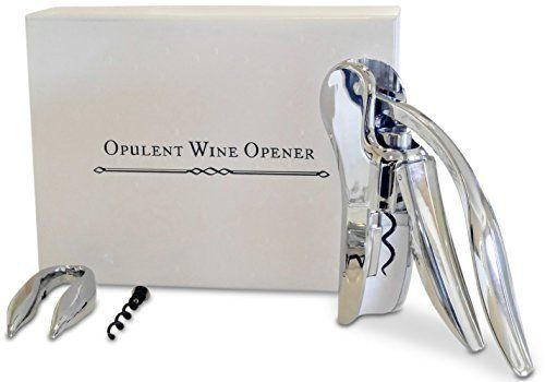 Opulent Wine Opener – Best Premium Screwpull Lever Wine Bottle Opener Set For Easy And Fast Removal Of Any Cork – Enjoy Drinking Your…
