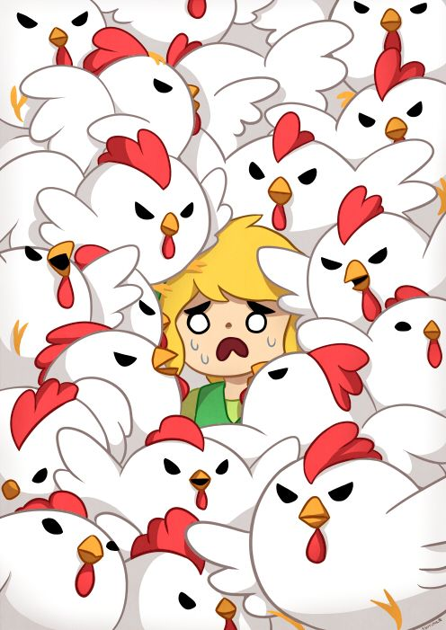 Don't hit the chickens...#LegendofZelda #Link