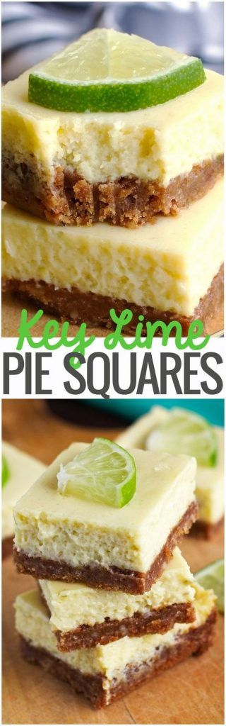 Key Lime Pie Bars Makes 16