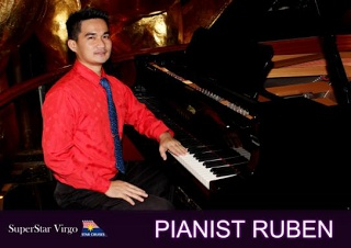PIANIST RUBEN Ongoing – June 30, 2013 Sail away from your troubles as you cruise with our resident pianist Ruben giving you wonderful melodies from jazz, contemporary pop to sentimental ballads that are sure to relax and uplift your mood.