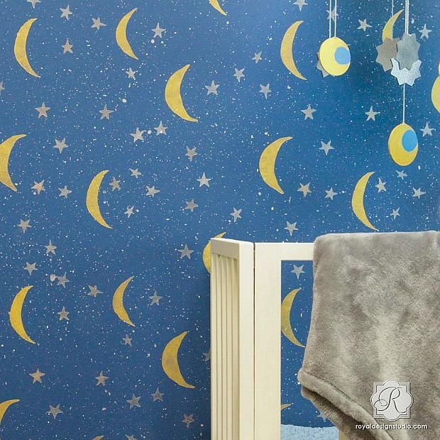 198 best modern wall stencils images on pinterest wall for Disney wall stencils for painting kids rooms