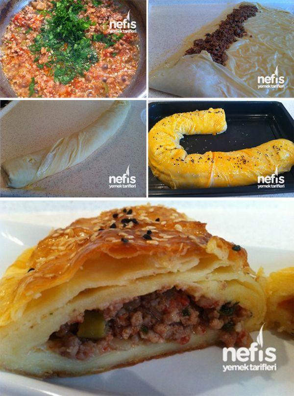 Kıymalı Rulo Börek - Nefis Yemek Tarifleri