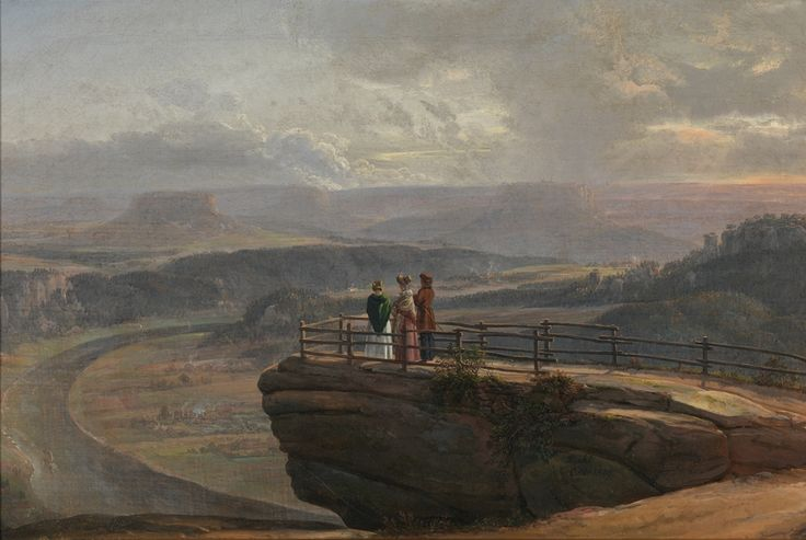 Johan Christian Dahl, Fra Bastei – Nasjonalmuseet – Samlingen