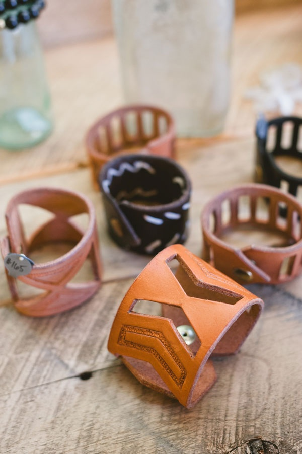 Make Smith for Adesso - Hand-tooled leather wrist cuff