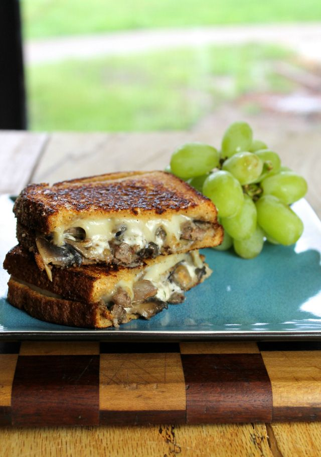 Steak, Mushroom & Swiss Grilled Cheese is the perfect way to enjoy leftover steaks from last night's barbecue!