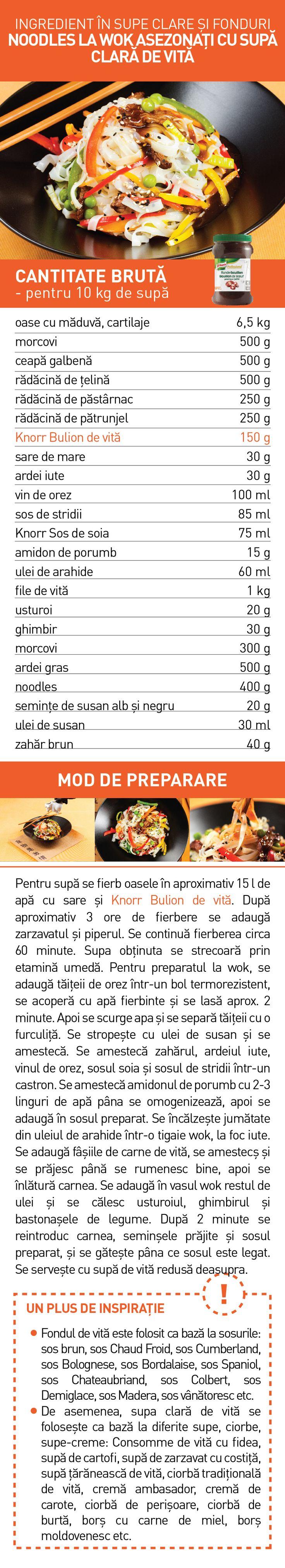Ingredient in supe clare si fonduri (II) - RETETE