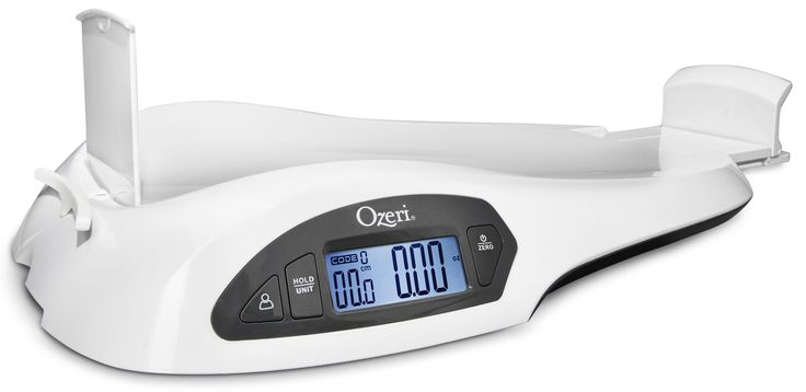 Ozeri All-In-One Baby and Toddler Scale -- with Weight and Height Change Detection, White