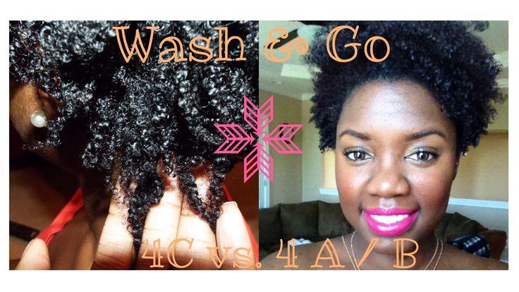Natural Hair   Wash n Go 4C hair vs. 4 A / B