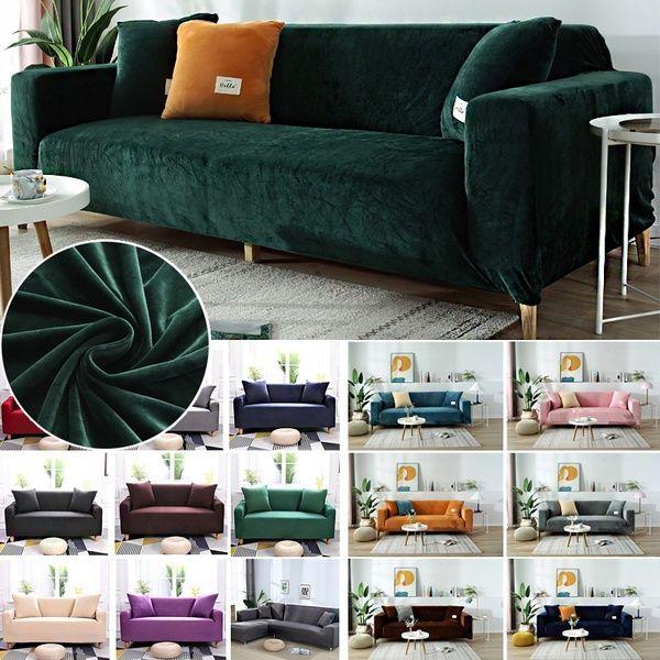 1 2 3 Seaters Velour Cloth Art Antiskid Stretch Sofa Cover Big Elastic Sofa Furniture Cover Wish Sofa Furniture Single Seater Sofa Furniture Covers