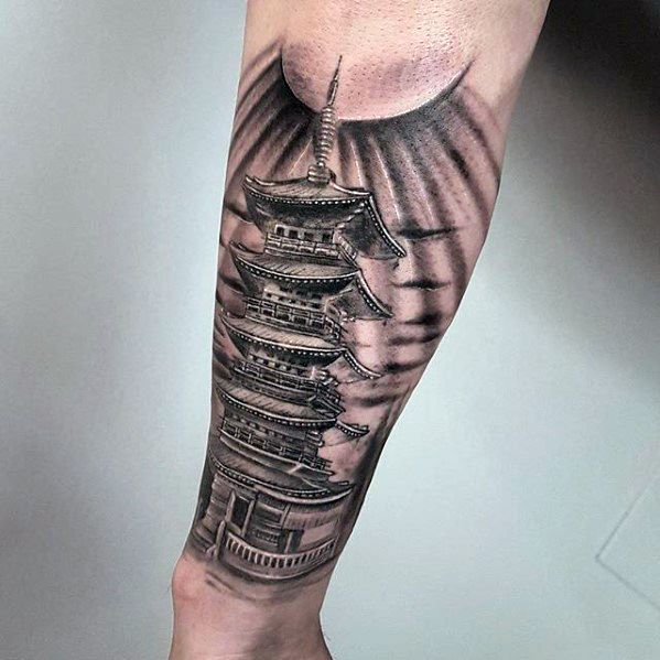 60 Pagoda Tattoo Designs For Men Tiered Tower Ink Ideas In 2020 Tattoo Designs Men Samurai Tattoo Design Tattoo Designs