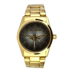 Reloj Zadig & Voltaire acero dorado esfera negra con alas. www.sanci.es