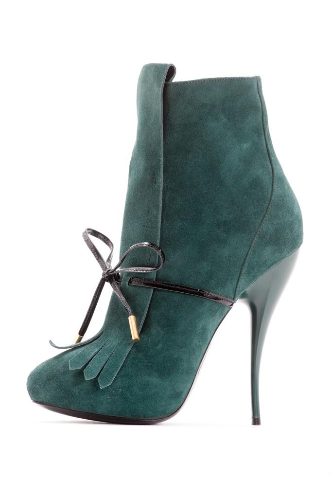 fall 2012, Viktor & Rolf, shoes, boots + booties, high heels, green