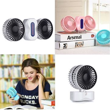 Mini Small Fan Cool Portable Dual Blower Air Conditioner USB Rechargeable Smart Home Appliances - Newchic Mobile.