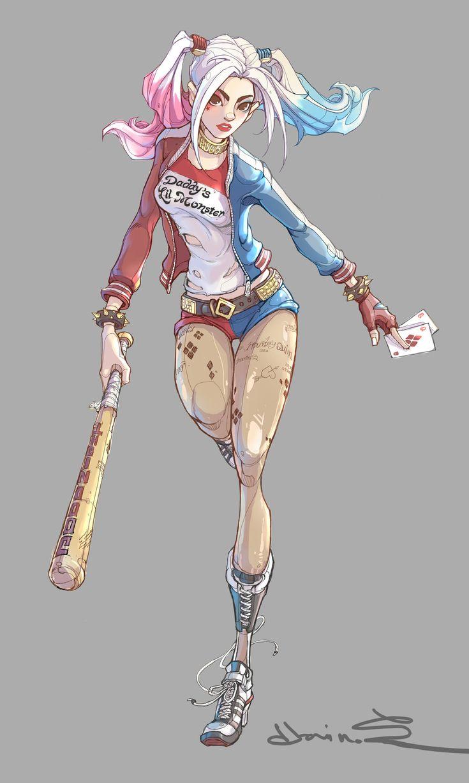 Harley Quinn, chanin suasungnern on ArtStation at https://www.artstation.com/artwork/ZOG9X - More at https://pinterest.com/supergirlsart/ #suicide #squad #fanart