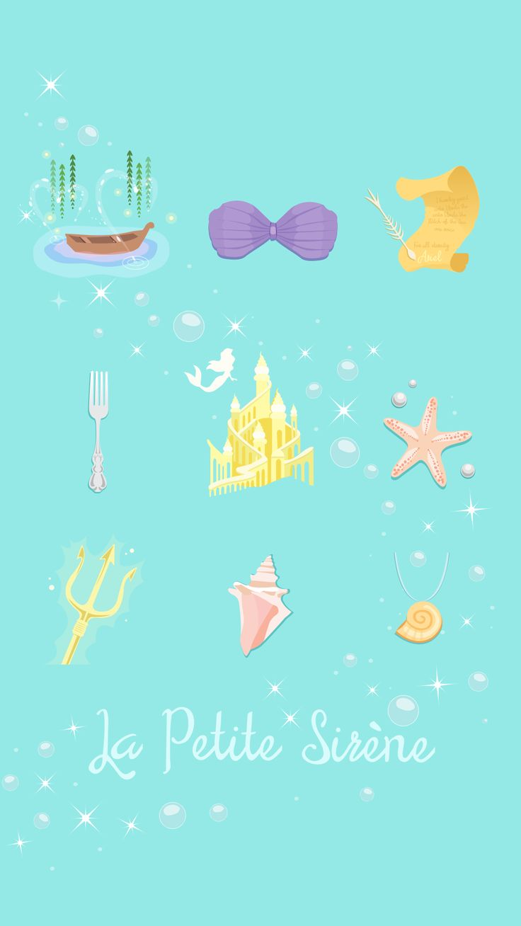 Pics photos dessin anime walt disney la petite sirene tattoo - Iphone La Petite Sirene Little Mermaid Ariel Wallpaper Crecre Fond D Cran