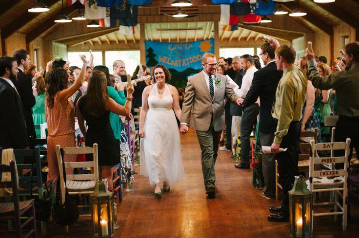 Gorgeous summercamp wedding at Camp Wayfarer, in Flat Rock North Carolina, USA. More here: http://www.fotografamos.com/2014/11/26/summercamp-wedding-photographer-north-carolina-susannah-jacob/