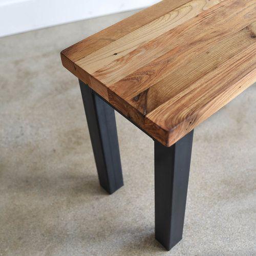 Butcher Block Reclaimed Wood Bench What We Make Reclaimed Wood Benches Old Wood Table Wood Bench