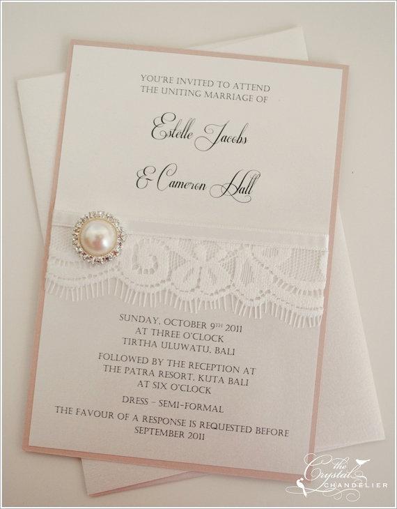 Vintage lace Wedding Invitation package by by WeddingInvitesTCC, $397.50